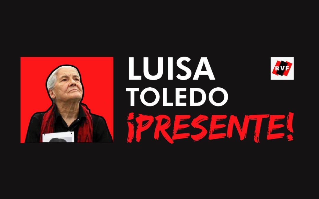 Comunicado Familia Vergara Toledo por el fallecimiento de Luisa Vergara Toledo Sepúlveda