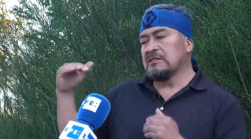 Entrevista por agencia EFE a Hector Llaitul vocero de la CAM